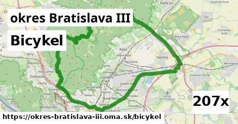 bicykel v okres Bratislava III