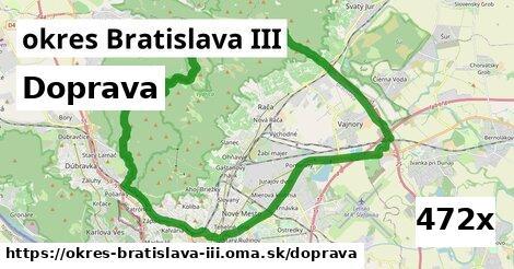 doprava v okres Bratislava III