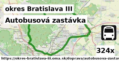 autobusová zastávka v okres Bratislava III