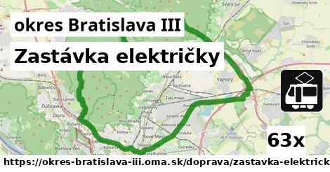 ilustračný obrázok k Zastávka električky, okres Bratislava III