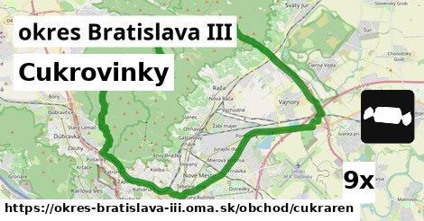 Cukrovinky, okres Bratislava III