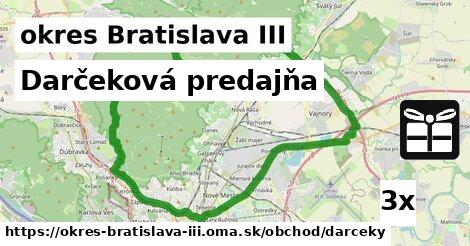 Darčeková predajňa, okres Bratislava III