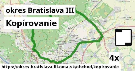 Kopírovanie, okres Bratislava III