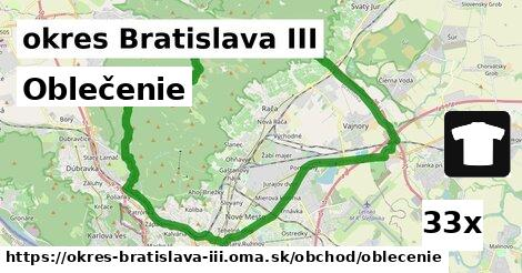 Oblečenie, okres Bratislava III