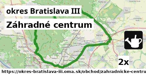 Záhradné centrum, okres Bratislava III