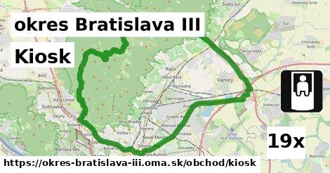 kiosk v okres Bratislava III