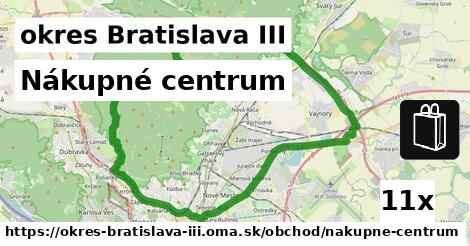 ilustračný obrázok k Nákupné centrum, okres Bratislava III