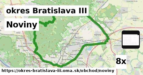 ilustračný obrázok k Noviny, okres Bratislava III