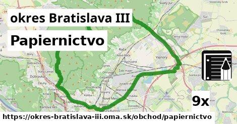 ilustračný obrázok k Papiernictvo, okres Bratislava III