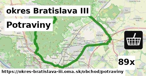 potraviny v okres Bratislava III