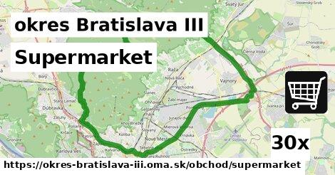 supermarket v okres Bratislava III