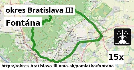 ilustračný obrázok k Fontána, okres Bratislava III