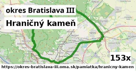 ilustračný obrázok k Hraničný kameň, okres Bratislava III
