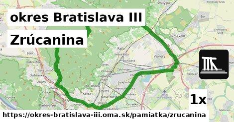 zrúcanina v okres Bratislava III