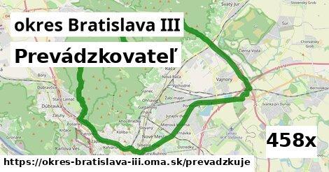 prevádzkovateľ v okres Bratislava III