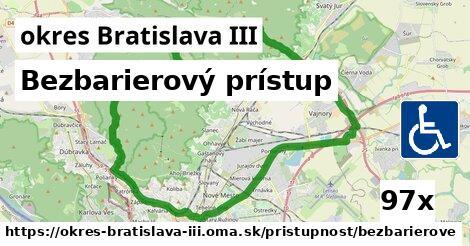 ilustračný obrázok k Bezbarierový prístup, okres Bratislava III