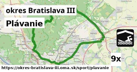 Plávanie, okres Bratislava III