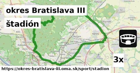 štadión, okres Bratislava III