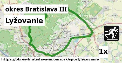 ilustračný obrázok k Lyžovanie, okres Bratislava III