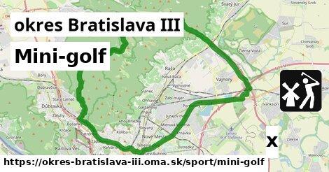 mini-golf v okres Bratislava III