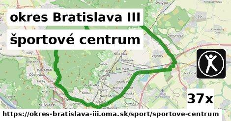 športové centrum v okres Bratislava III