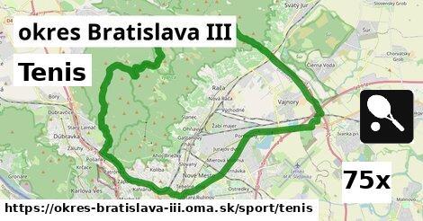 ilustračný obrázok k Tenis, okres Bratislava III
