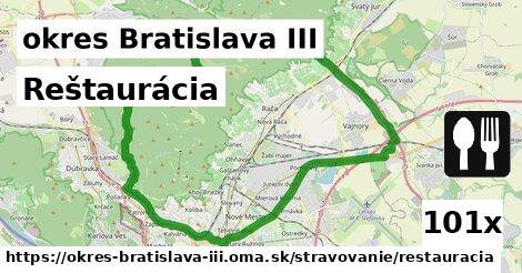 Reštaurácia, okres Bratislava III