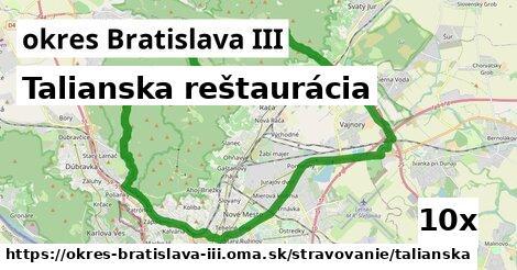 Talianska reštaurácia, okres Bratislava III