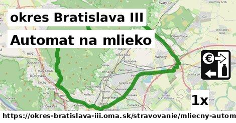 ilustračný obrázok k Automat na mlieko, okres Bratislava III