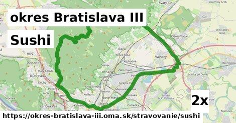 ilustračný obrázok k Sushi, okres Bratislava III