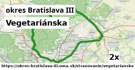 ilustračný obrázok k Vegetariánska, okres Bratislava III