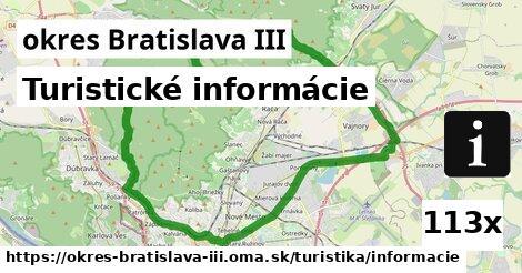 ilustračný obrázok k Turistické informácie, okres Bratislava III