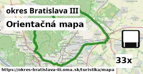 orientačná mapa v okres Bratislava III