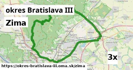 zima v okres Bratislava III