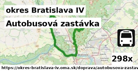 ilustračný obrázok k Autobusová zastávka, okres Bratislava IV