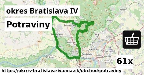 Potraviny, okres Bratislava IV