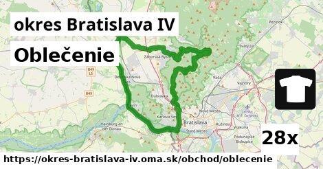 ilustračný obrázok k Oblečenie, okres Bratislava IV