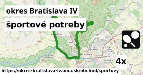 ilustračný obrázok k športové potreby, okres Bratislava IV