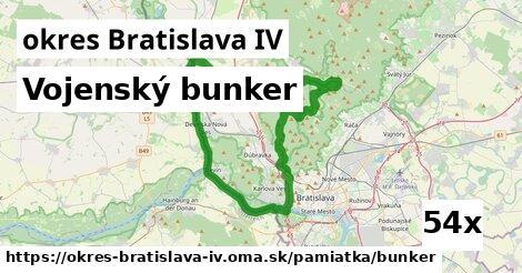 vojenský bunker v okres Bratislava IV
