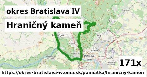 ilustračný obrázok k Hraničný kameň, okres Bratislava IV