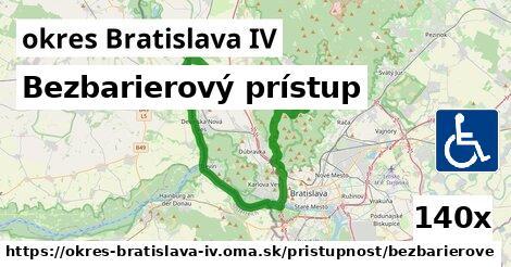 ilustračný obrázok k Bezbarierový prístup, okres Bratislava IV