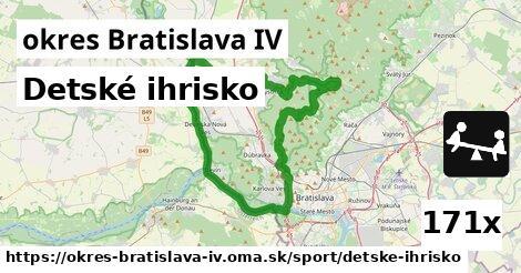Detské ihrisko, okres Bratislava IV