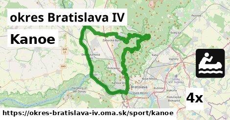 kanoe v okres Bratislava IV