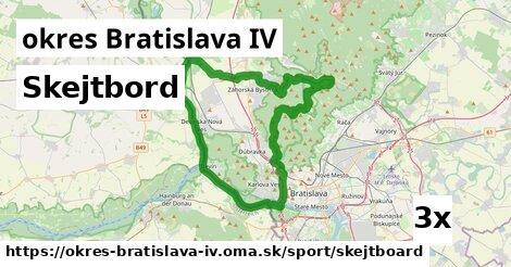 skejtbord v okres Bratislava IV