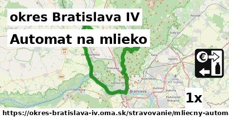 ilustračný obrázok k Automat na mlieko, okres Bratislava IV