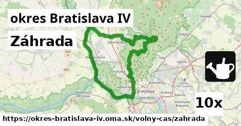 ilustračný obrázok k Záhrada, okres Bratislava IV