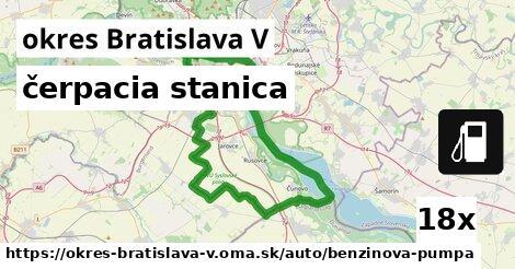ilustračný obrázok k čerpacia stanica, okres Bratislava V