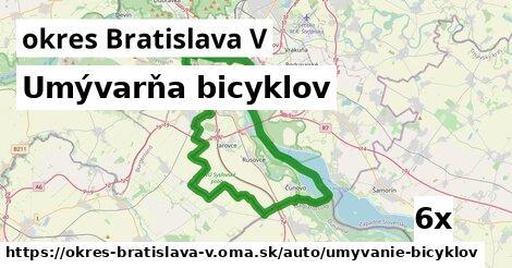 ilustračný obrázok k Umývarňa bicyklov, okres Bratislava V
