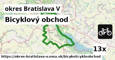 ilustračný obrázok k Bicyklový obchod, okres Bratislava V