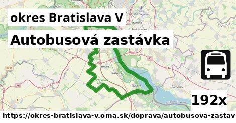 ilustračný obrázok k Autobusová zastávka, okres Bratislava V